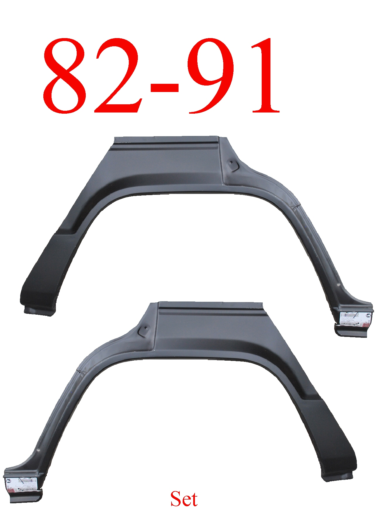 82-91 Mitsubishi Montero 4Dr Rear Upper Arch & Dog Leg Set